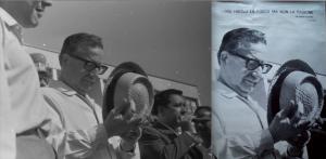 À l'occasion du même reportage, la photo de Miguel Herberg (à droite), prise sous le même angle que la caméra de Peter Hellmich (à gauche), fera une fois recadrée l'objet d'une affiche du Comité italien de solidarité avec le Chili auquel Herberg participait activement.