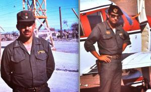 À gauche, le 28 janvier 1974 au camp de Chacabuco, le capitaine Alejandro Ávila Arentsen (LIRE NOTE 1). À droite, le 30 janvier au camp de Pisagua (lieutenant Perez ??). Photos : Miguel Herberg.