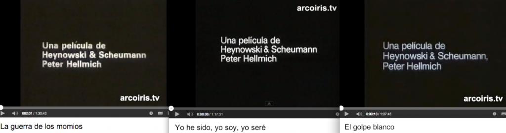 En entrée des trois premiers films d'H&S sur le Chili : Una película Heynowski & Scheumann Peter Hellmich