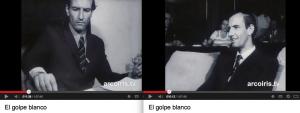 Parmi les nombreuses séquences tournées par Miguel Herberg sur le Parti national et reprises dans le film El golpe blanco, ces deux extraits d'entrevues avec Juan Luis Ossa Bulnes conduites par Herberg.