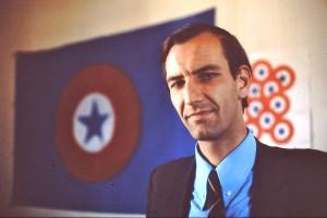 Juan Luis Ossa Bulnes : dirigeant de la jeunesse du Parti Nacional et du Comando Rolando Matus, groupe de choc du parti. Photo, Miguel Herberg (février 1973).