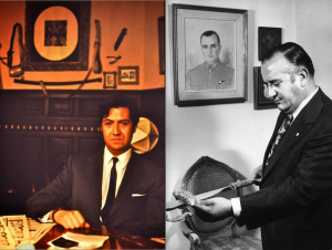 Iván Alvear Ravanal (à gauche) et le général Alfredo Canales. Photos de Miguel Herberg (mars et juillet 1973).