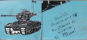 Uberlan,  Pisagua 30-01-74 Prisioneros de Guerra  A Miguel