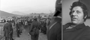 Photos de Miguel Herberg (planches contacts ci-dessus) : photo de la grève des camionneurs (première planche contact) et portrait d'Hanns Stein (dernière photo de la deuxième planche contact).