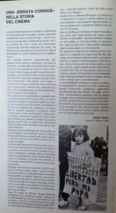 """""""Une erreur à corriger dans l'histoire du cinéma"""" par Danilo Trelles. Catalogue du Festival de Trieste, 1993."""