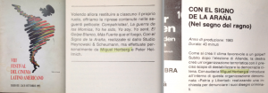 Catalogue du Festival du Cinéma latino-américain de Trieste, 1993.