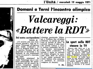 Le 19 mai 1971, L'Unità, organe du Parti communiste italien, signale à ses lecteurs le passage à la RAI (télévision italienne) d'un documentaire de Miguel Herberg sur le sport en RDA.