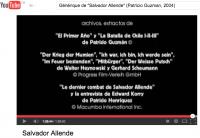 "8-Générique du film ""Salvador Allende"" de Patricio Guzman"