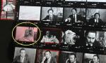 6 - Peter Hellmich sur une planche contacts de Miguel Herberg (photos prises en février 1974)